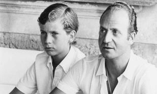 Juan Carlos I y el rey Felipe VI