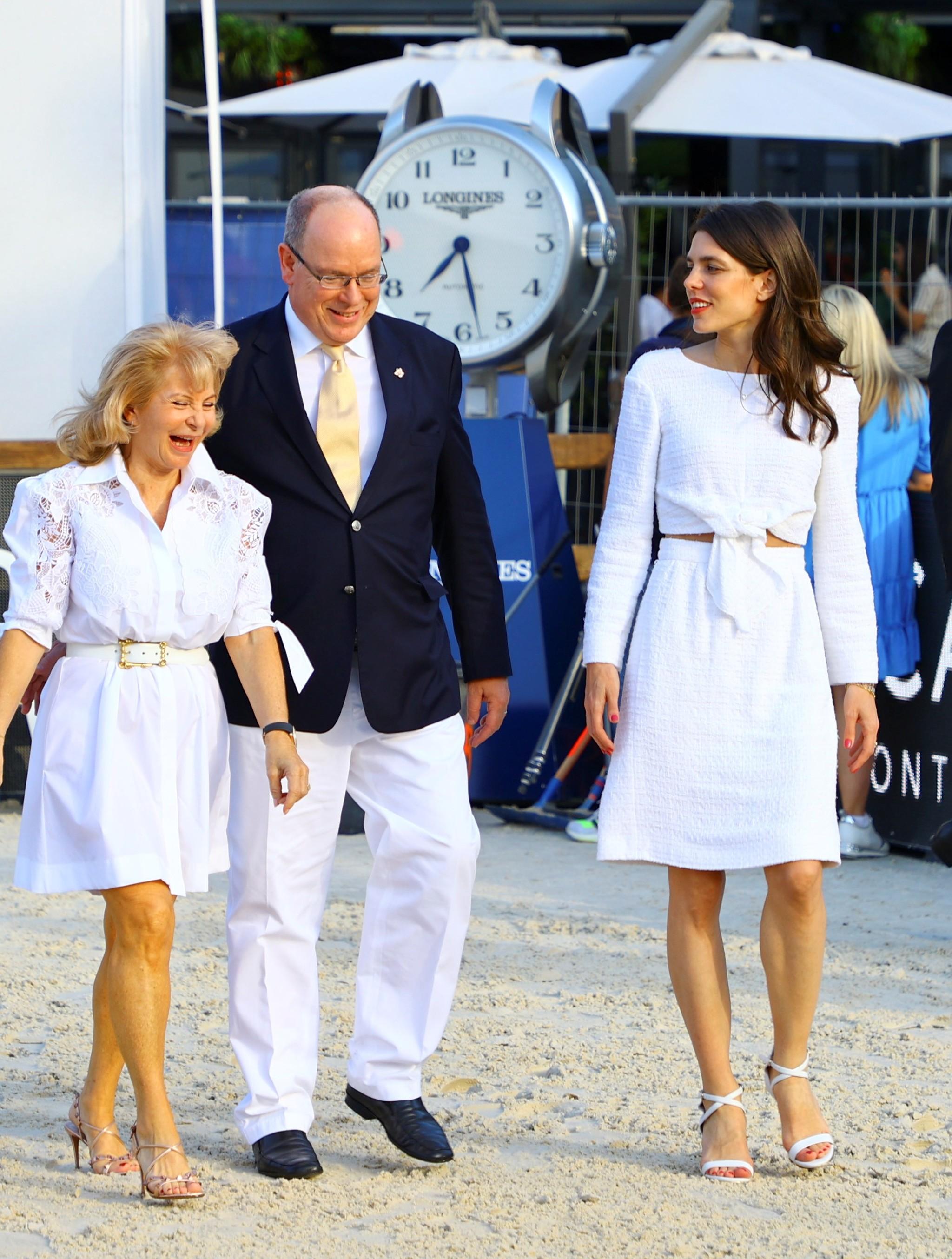 El príncipe Alberto de Mónaco y Carlota Casiraghi.