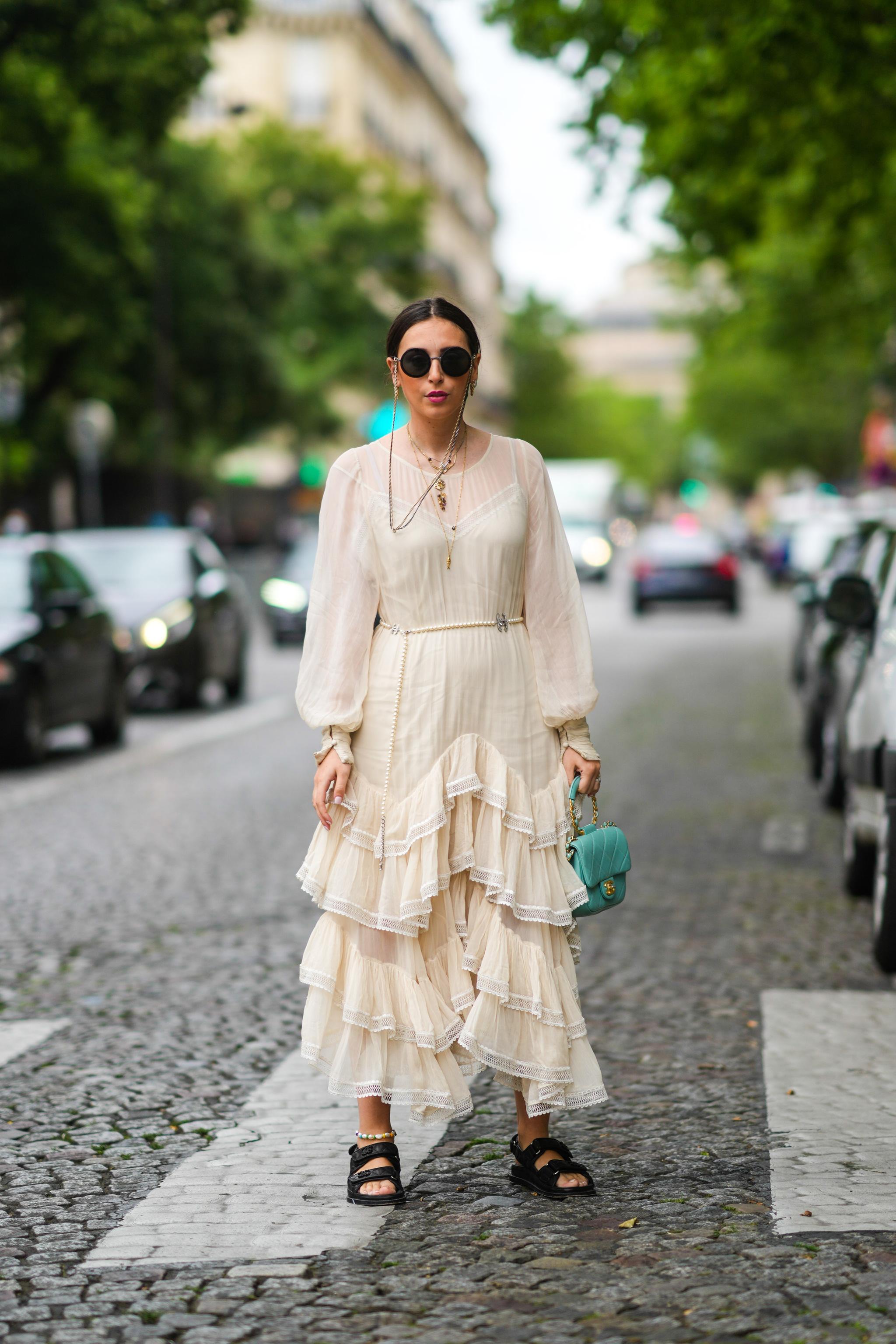 Un vestido boho visto en París.