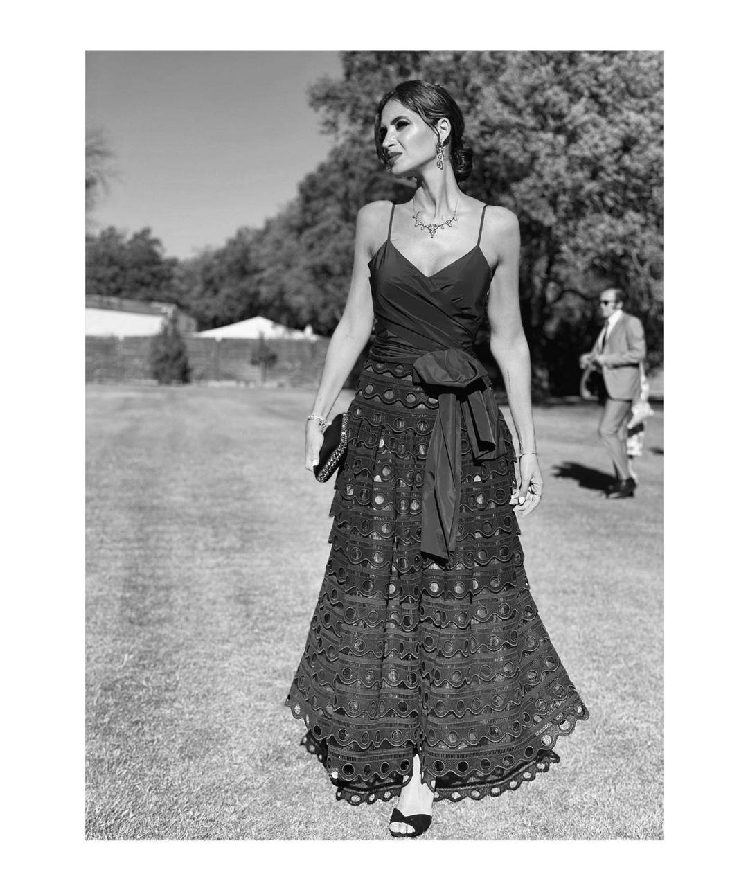 Sara Carbonero luciendo un vestido de Silvia Tcherassi