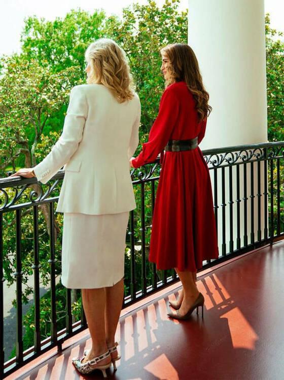 Rania ha visitado la Casa Blanca.
