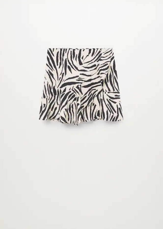 Minifalda estampada de cebra