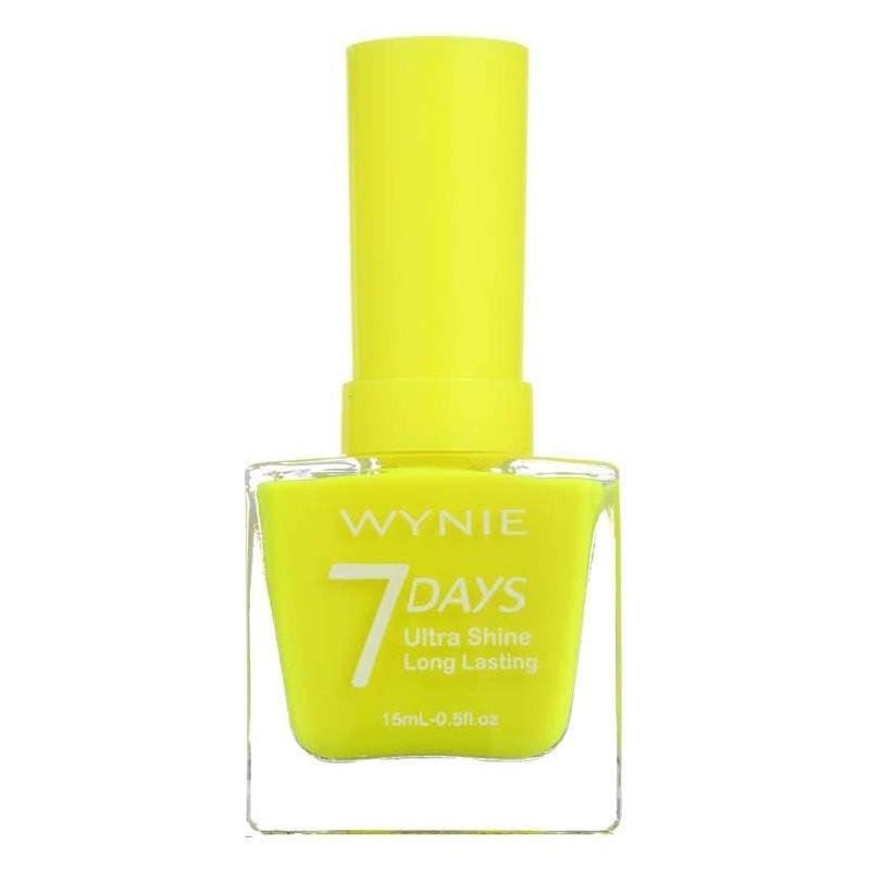 Esmalte de uñas en amarillo neón de Wynie