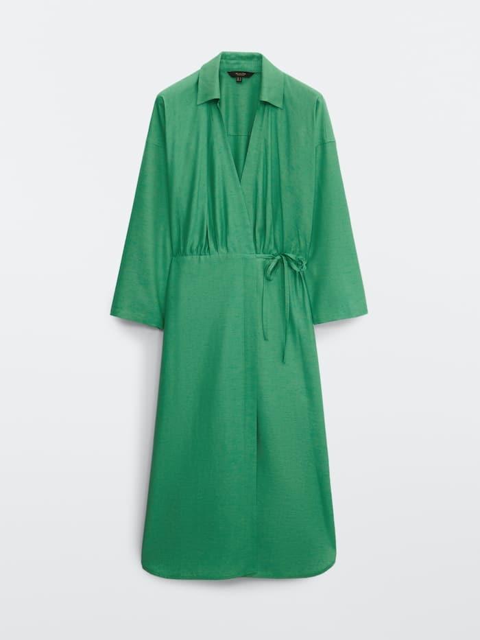 Vestido verde de Massimo Dutti de Tamara Falcó