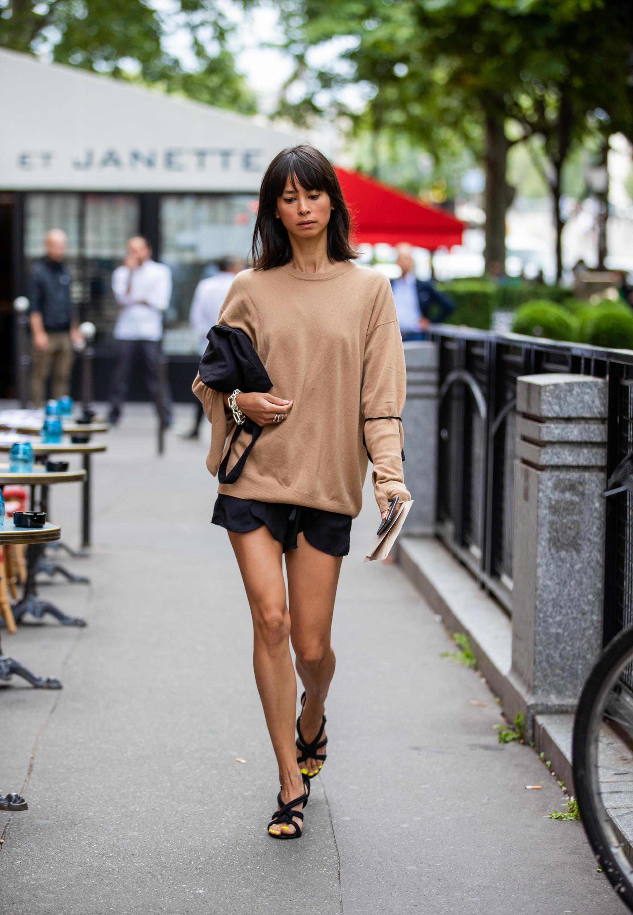 Un short y un suéter como look inspirador.
