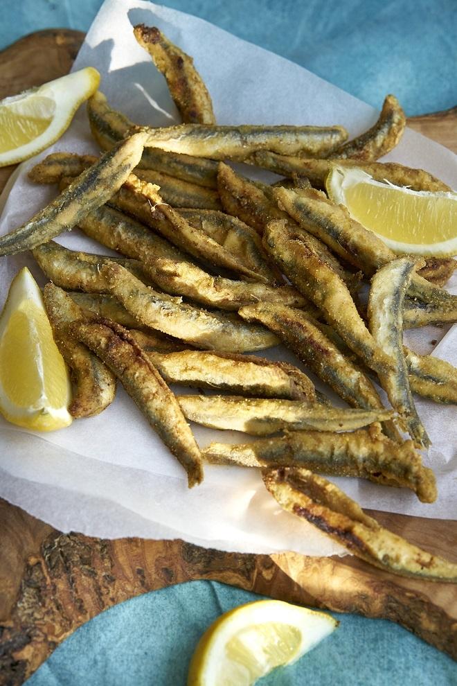 Boquerones fritos al estilo andaluz.