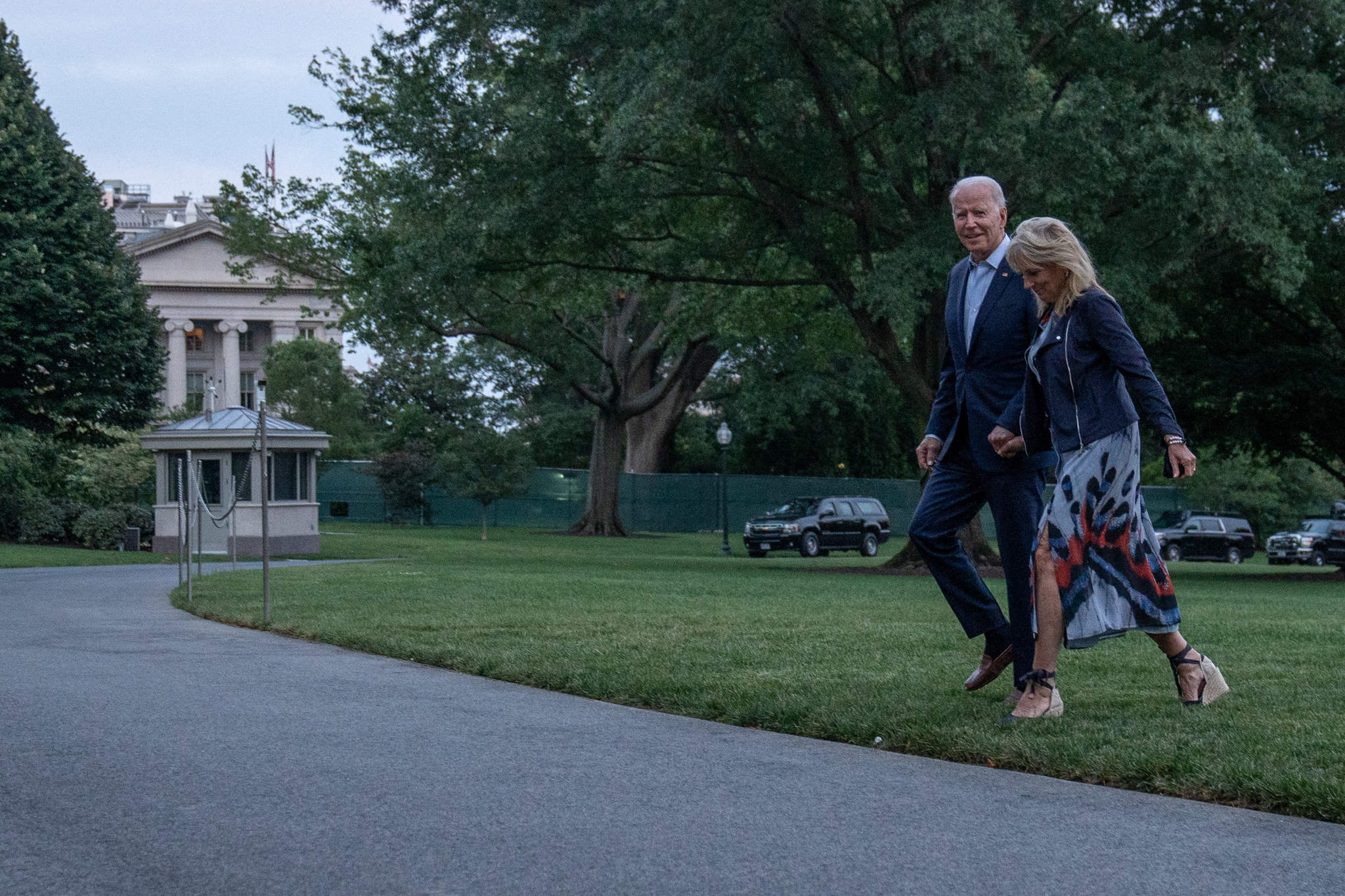 La pareja presidencial.