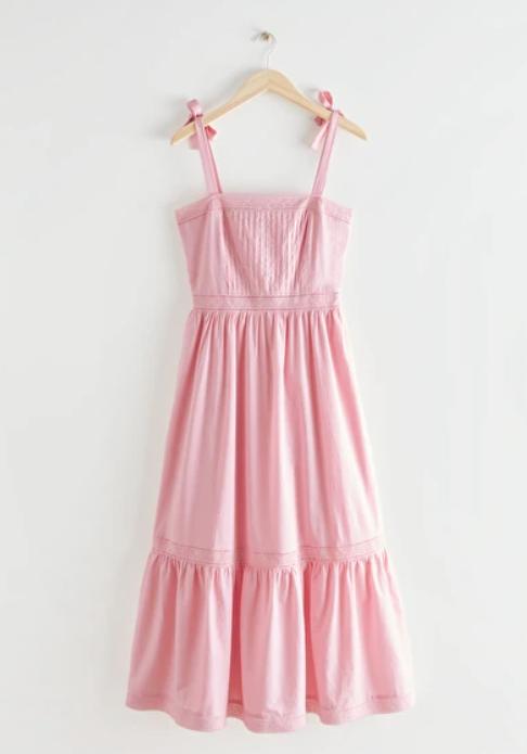 Vestido rosa nido de abeja
