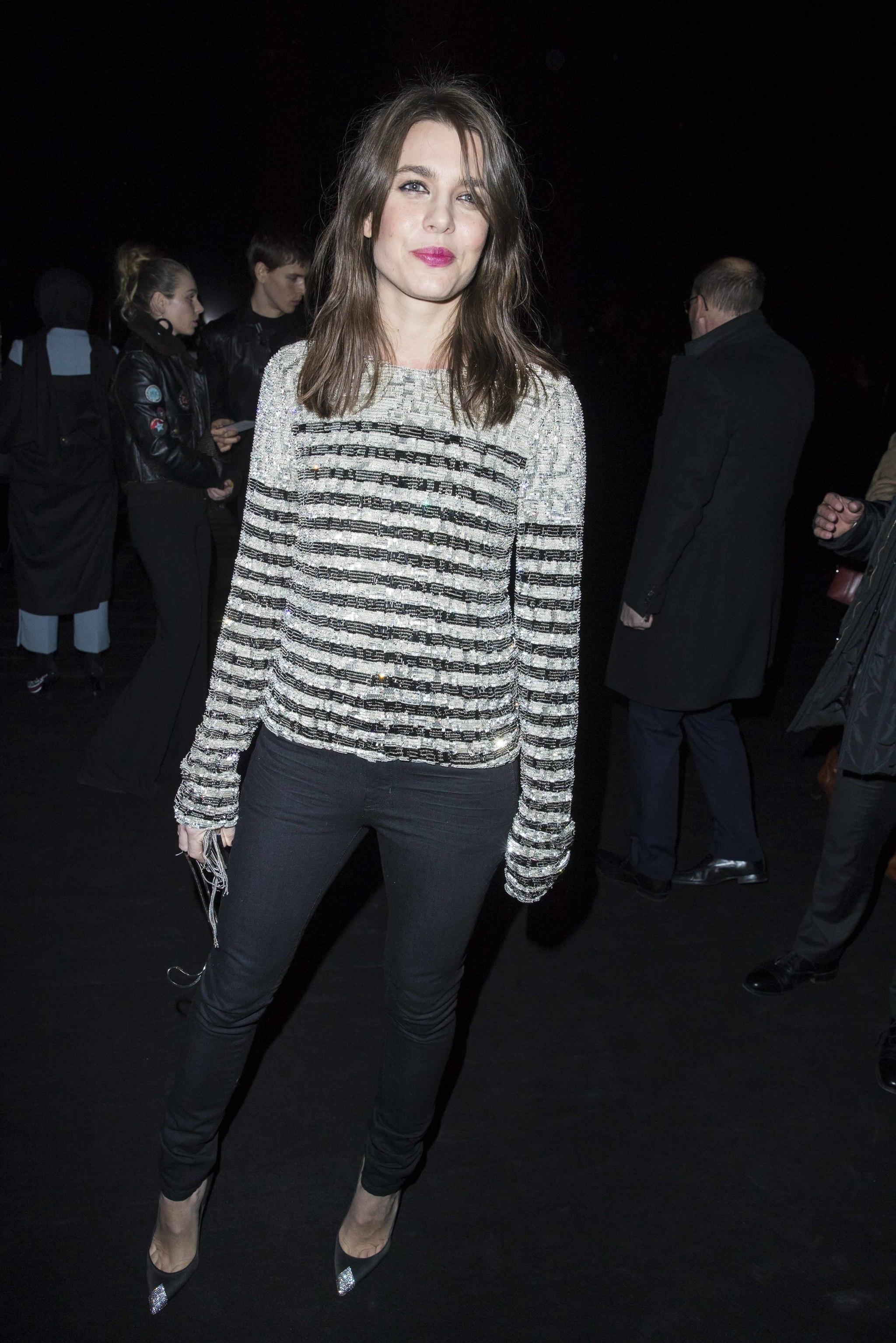Carlota Casiraghi en la semana de la moda de París.