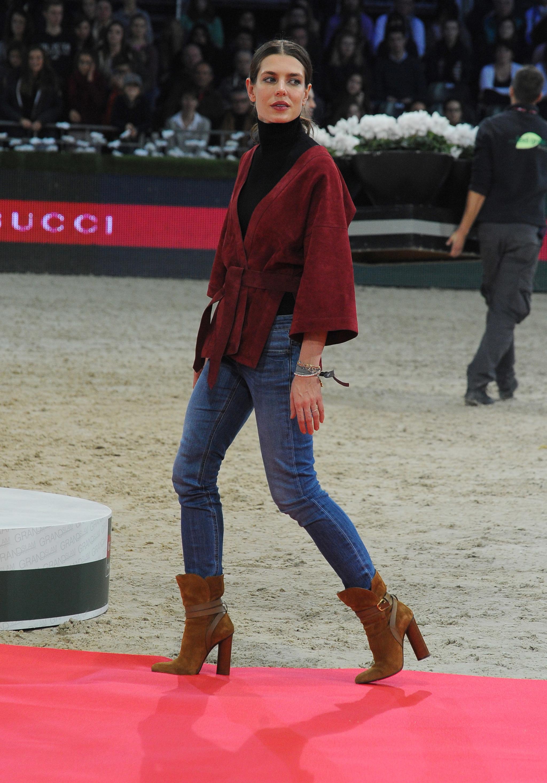 Carlota Casiraghi en un concurso hípico.
