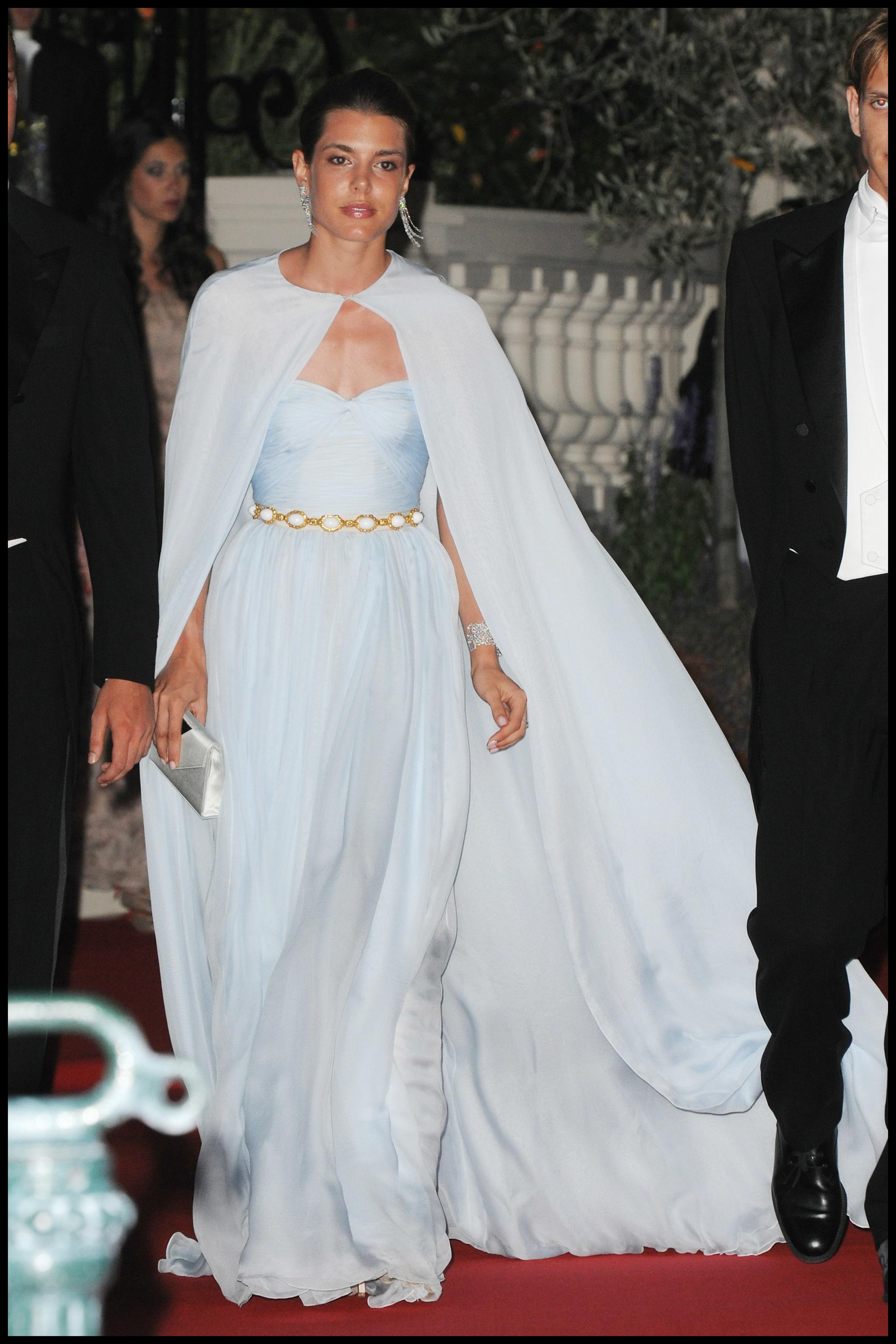Carlota Casiraghi, regia en la cena previa a la boda de su tío el príncipe Alberto de Mónaco.