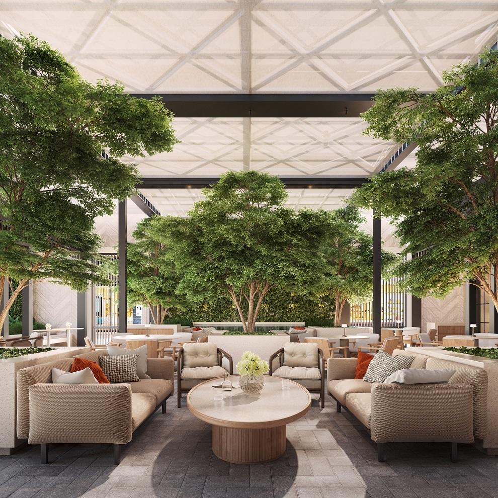 Patio del hotel Rosewood Villa Magna
