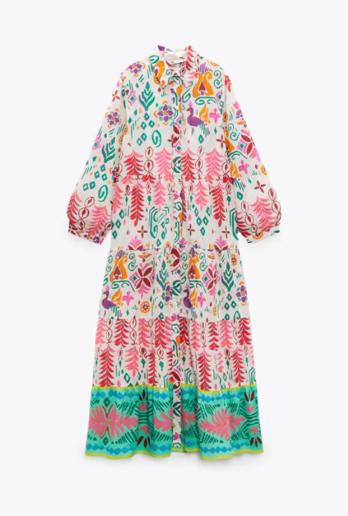 Vestido camisero multicolor