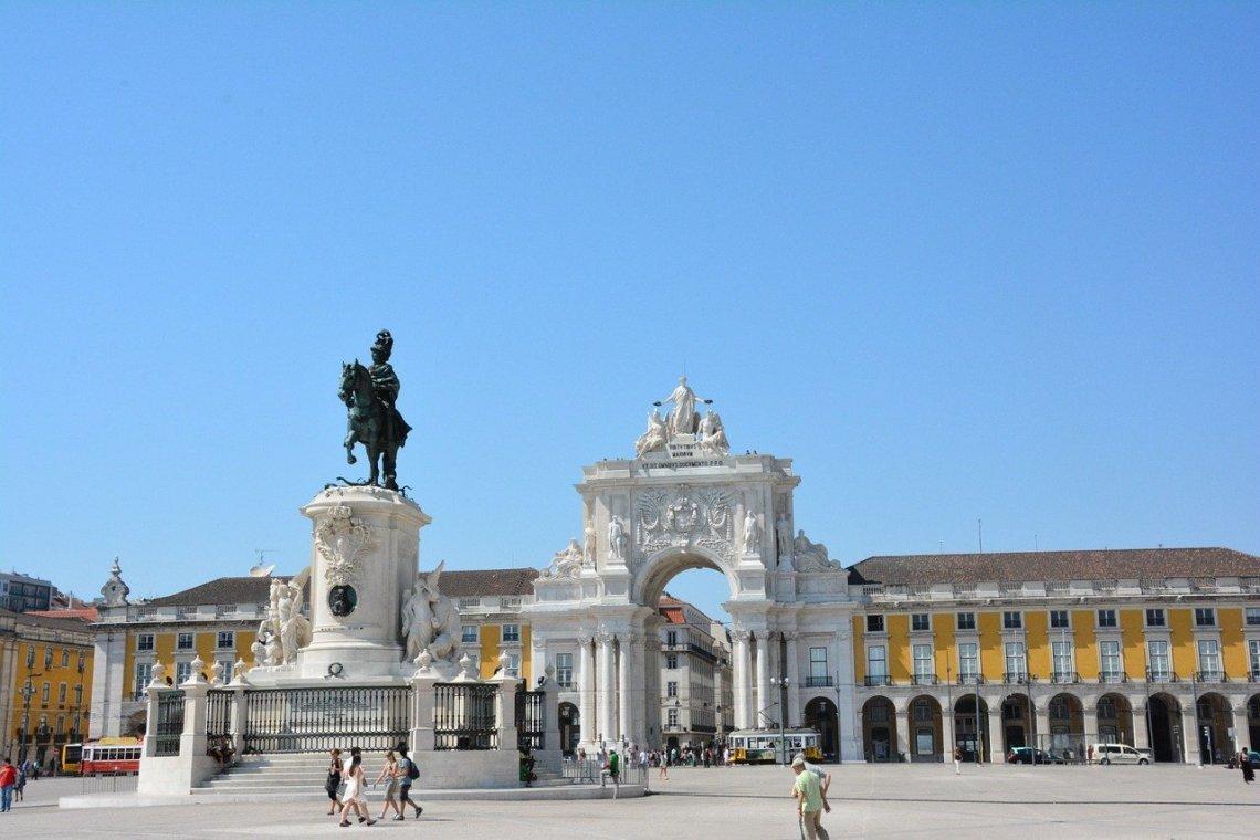 La Praça do Comercio, en Lisboa.