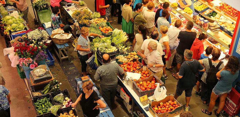 Mercado de Zarauz.