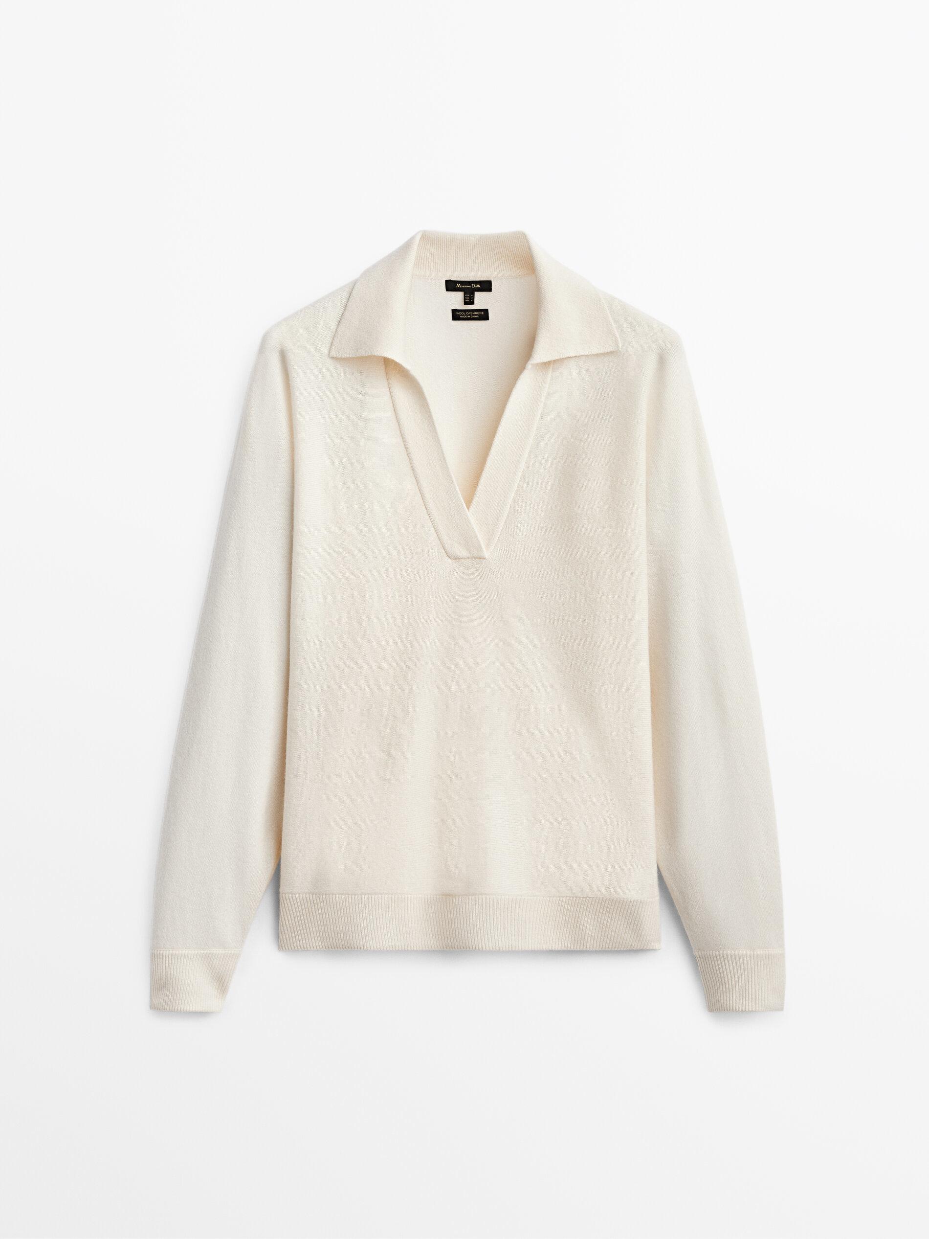Jersey de cashmere de Massimo Dutti.