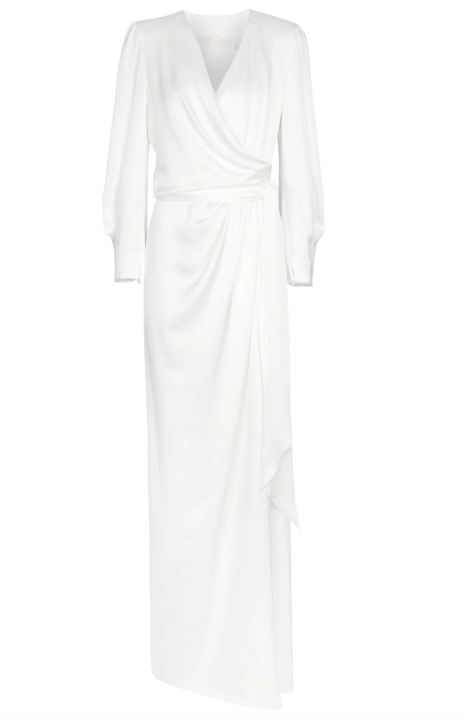 Vestido de satén cruzado