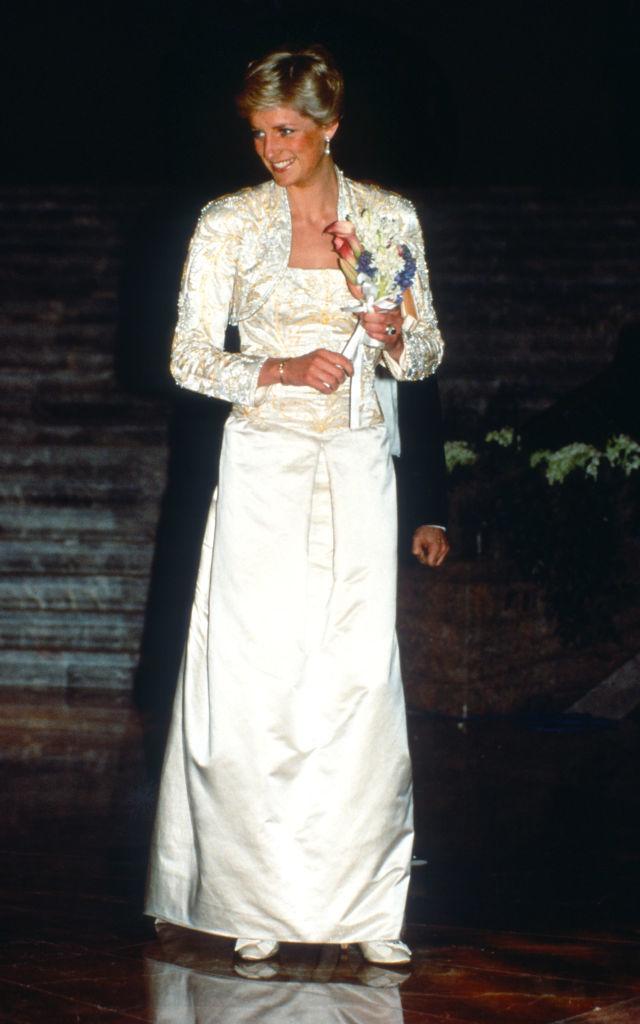Diana de Gales en un evento en la Academia de Música de Brooklyn en 1989.