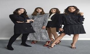 Sus musas, las actrices Macarena Gómez, Mireia Oriol, Stephanie Gil y...