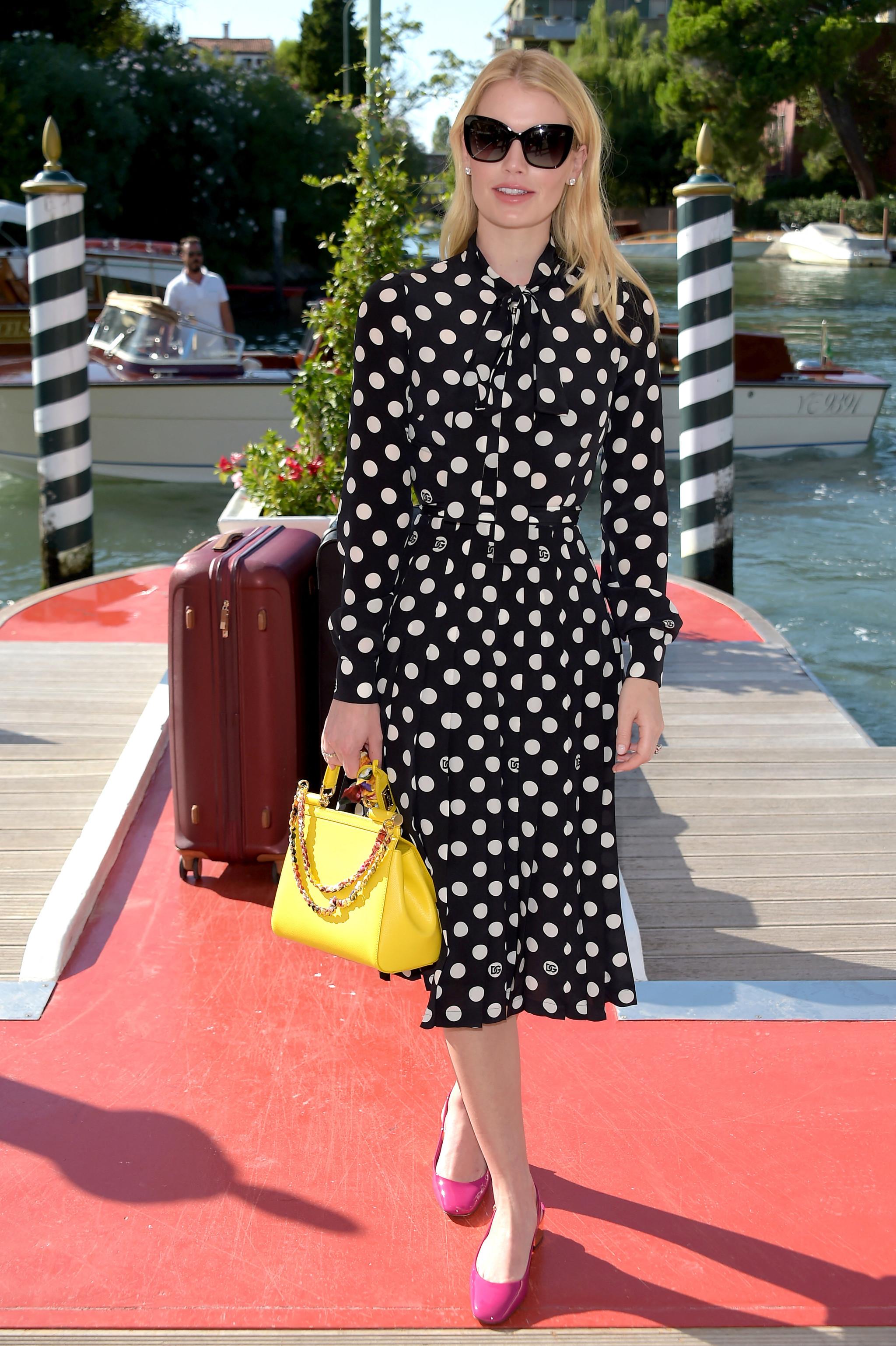 Lady Kitty Spencer a su llegada a Venecia.