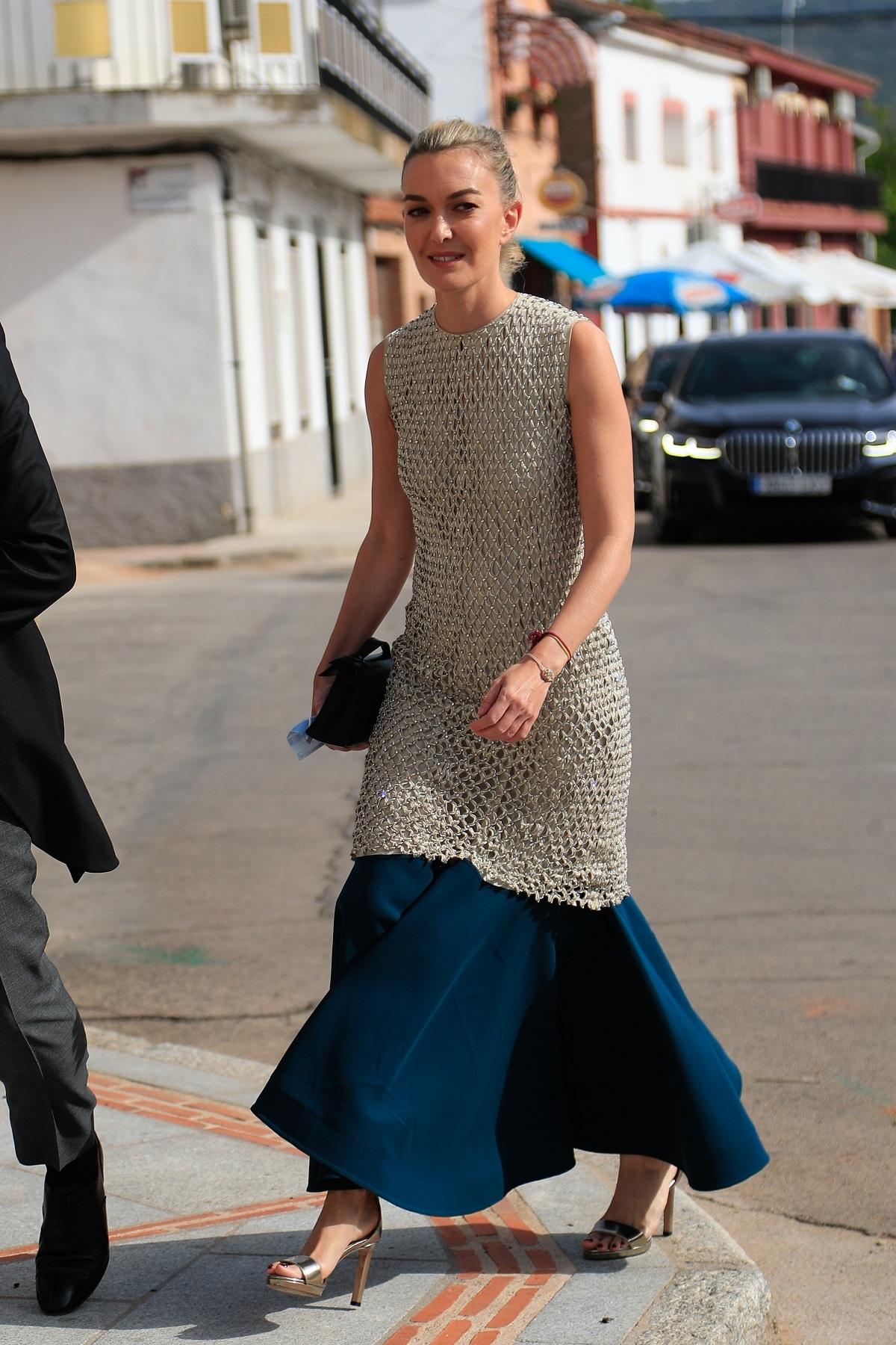 Marta Ortega con un vestido de Valentino este verano.