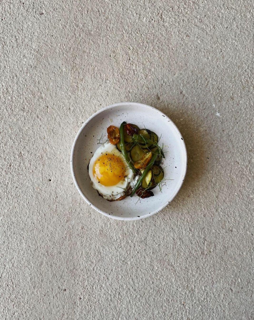 Así desayuna la chef milanesa Giorgia Eugenia Goggi.