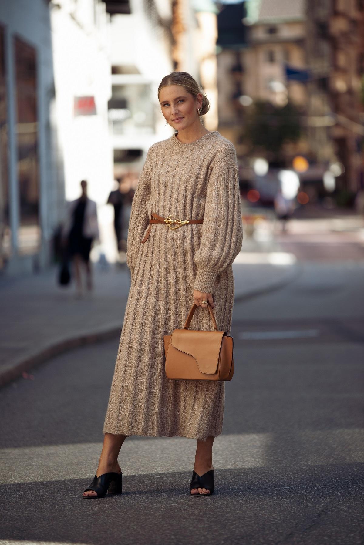 El vestido de punto es la prenda que no puede faltarte.