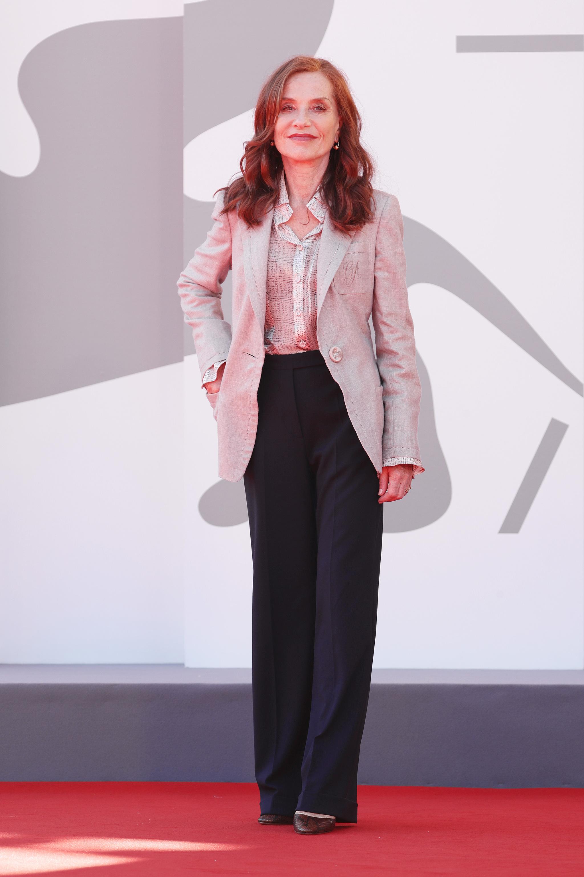 Isabelle Huppert en el 78 Festival de Venecia.