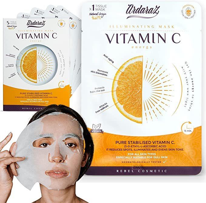 Mascarilla facial hidratante, iluminadora y reductora de manchas de Ardaraz