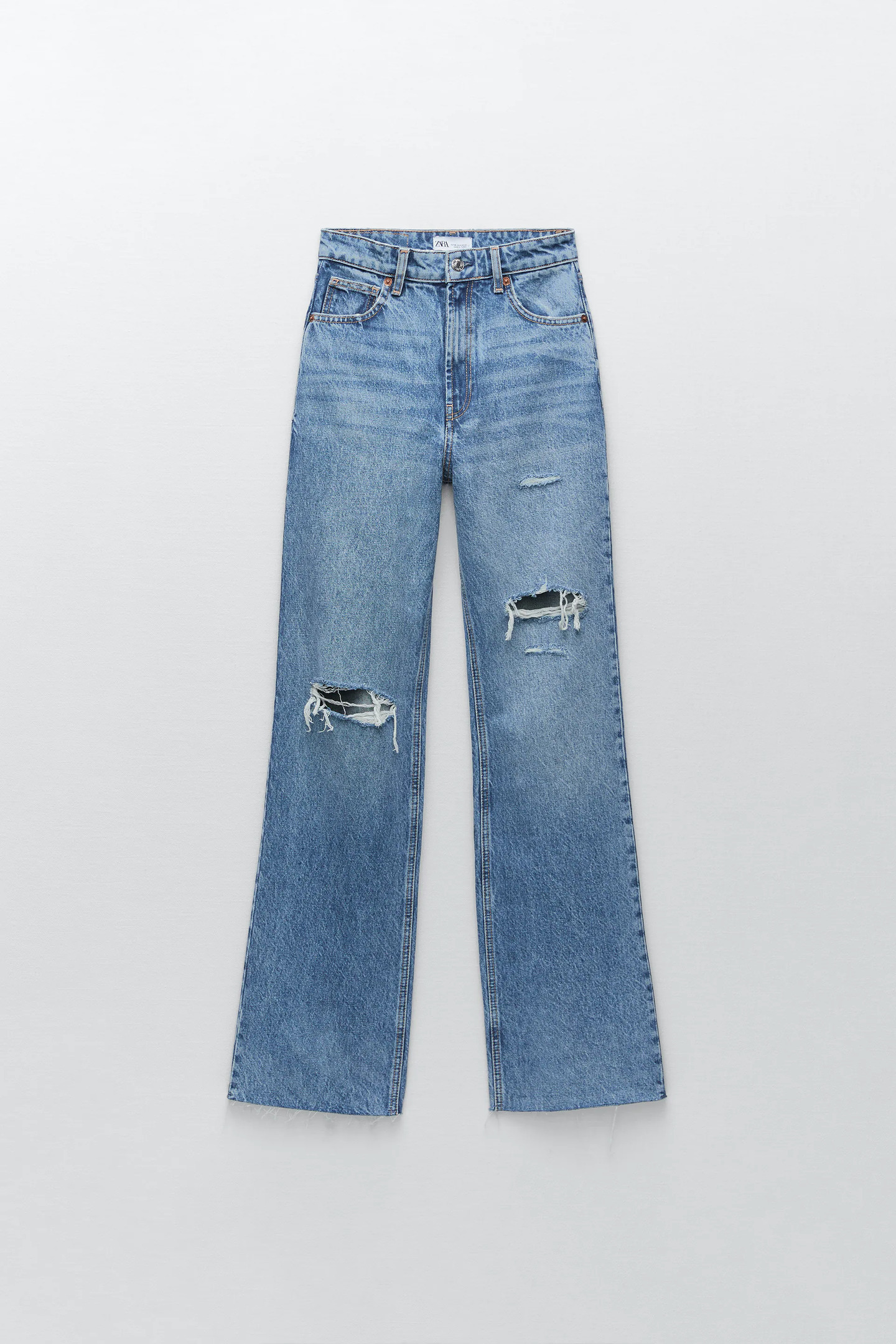Jeans wide leg rotos