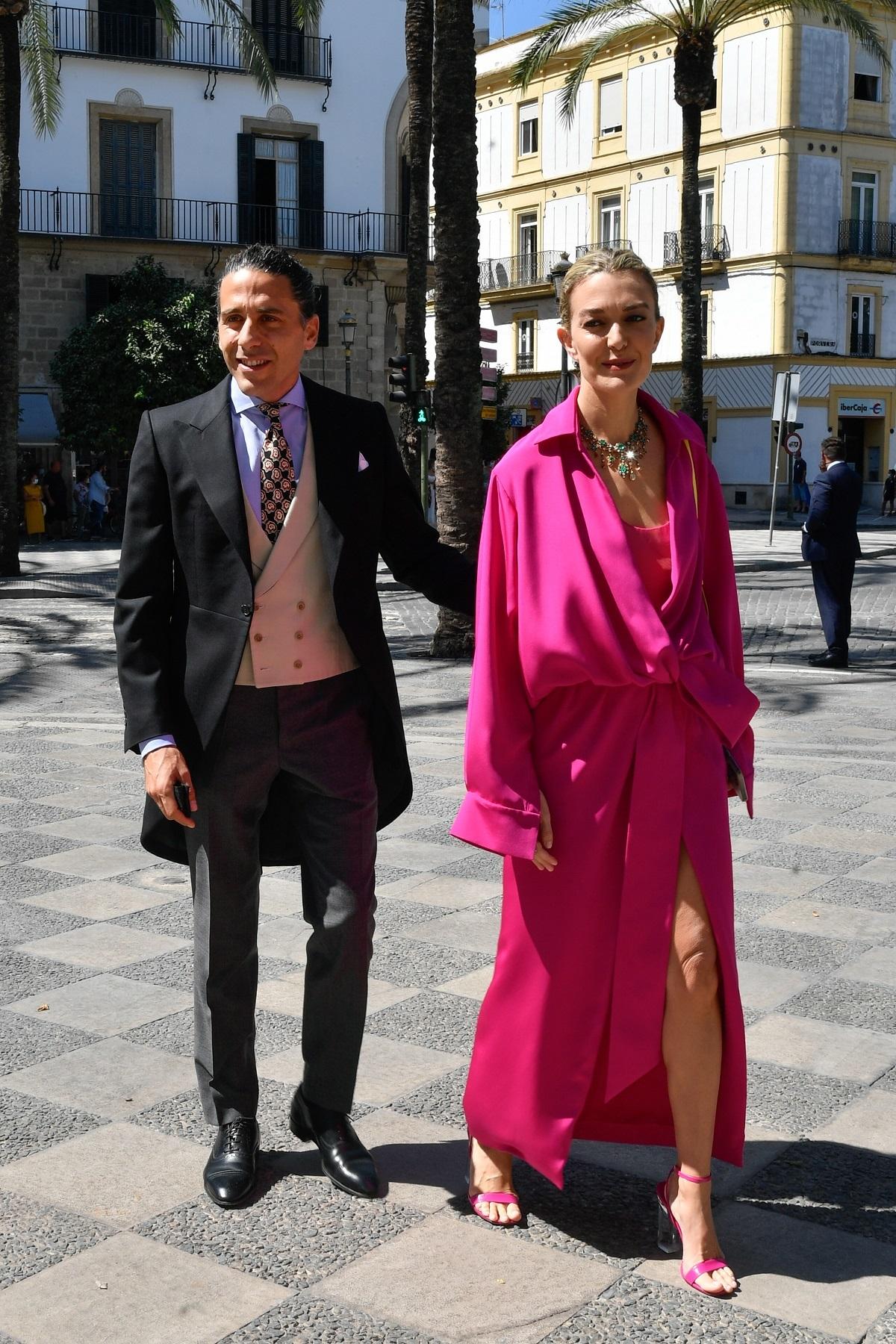 Marta Ortega y Carlos Torretta en la boda de Carlos Cortina y Carla Vega-Penichet.