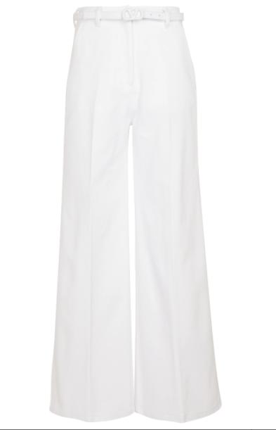 Pantalones anchos de algodón de Valentino.