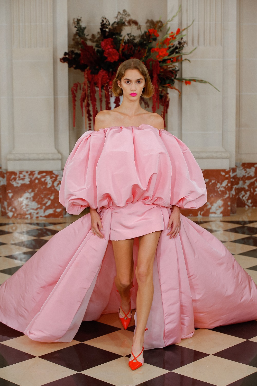 Vestido rosa de fiesta de Carolina Herrera NY.