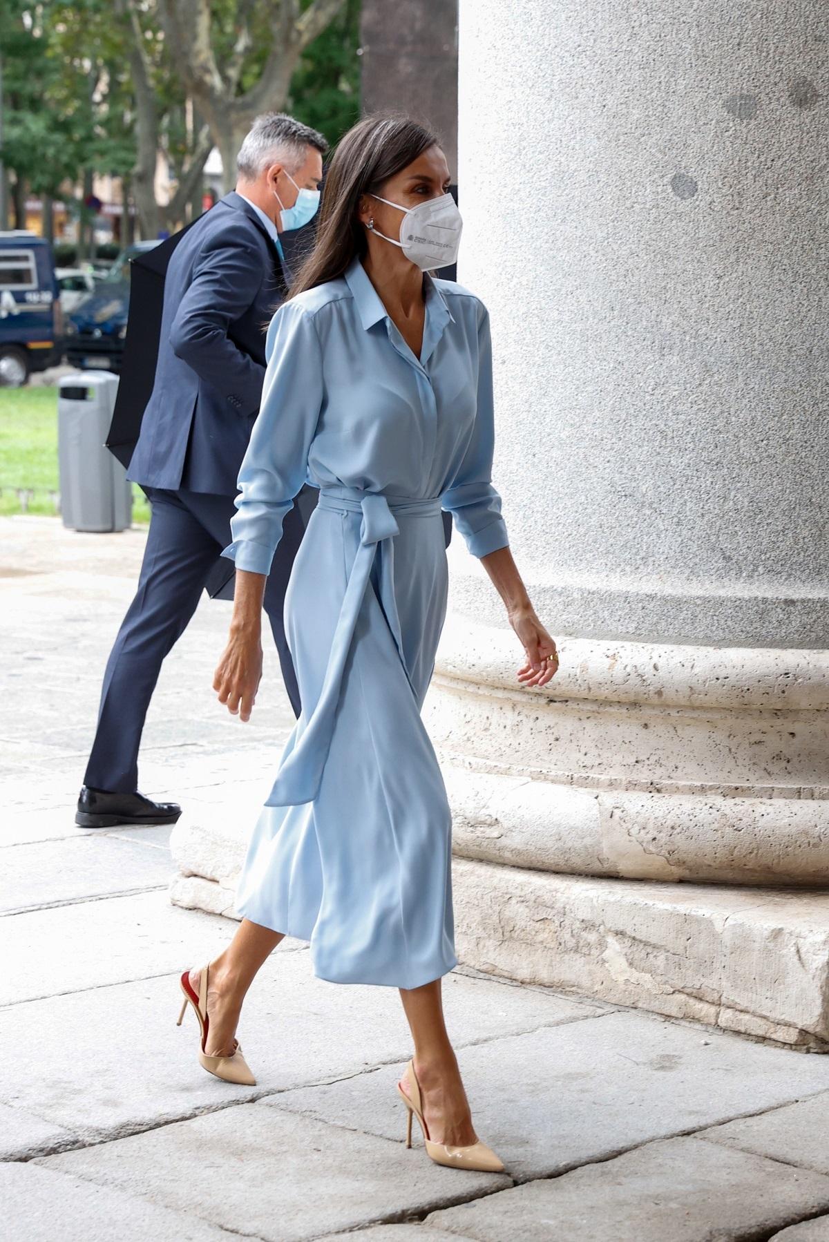 El look de la Reina Letizia este lunes.