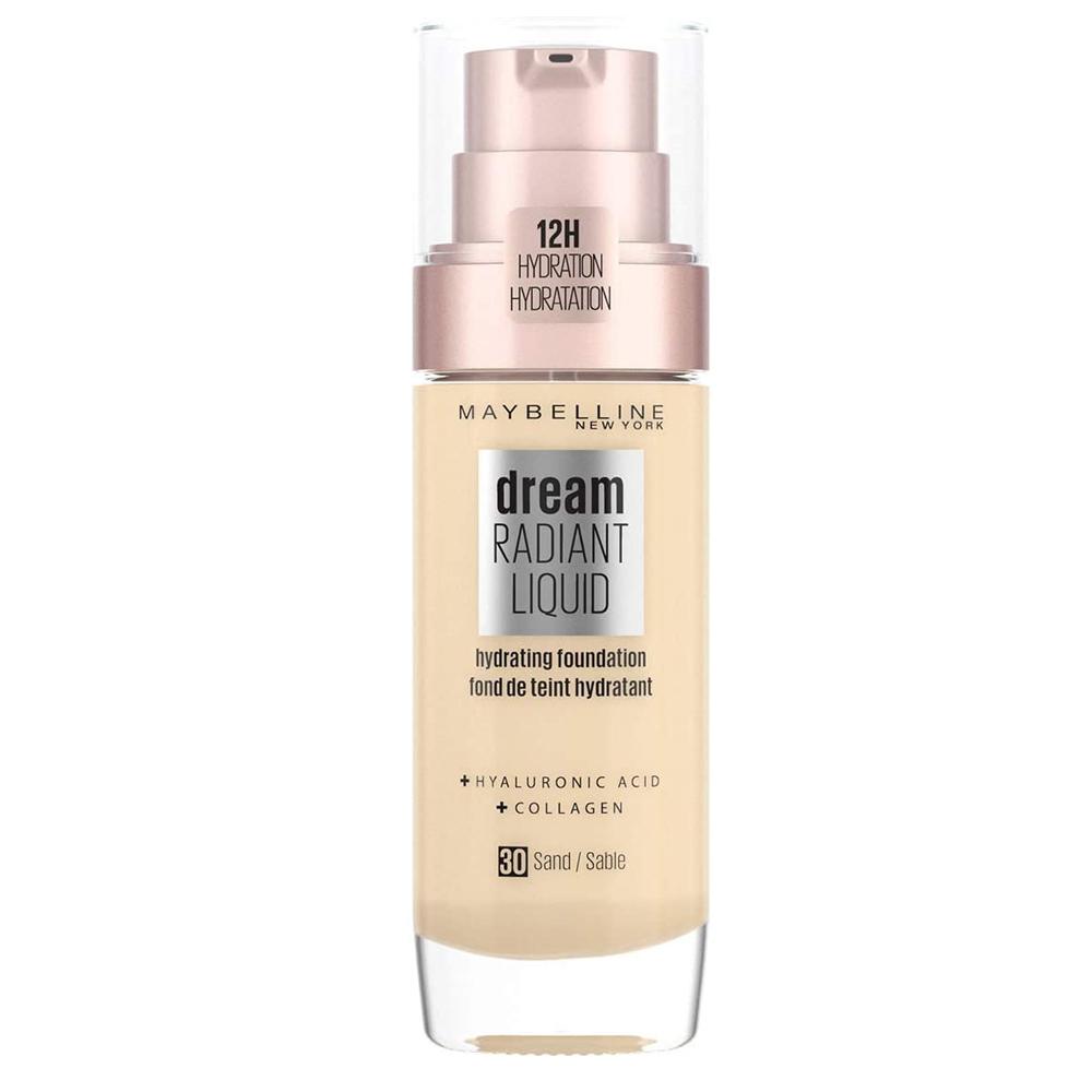 Base de maquillaje líquida con sérum hidratante Dream Radiant Liquid de Maybelline New York.