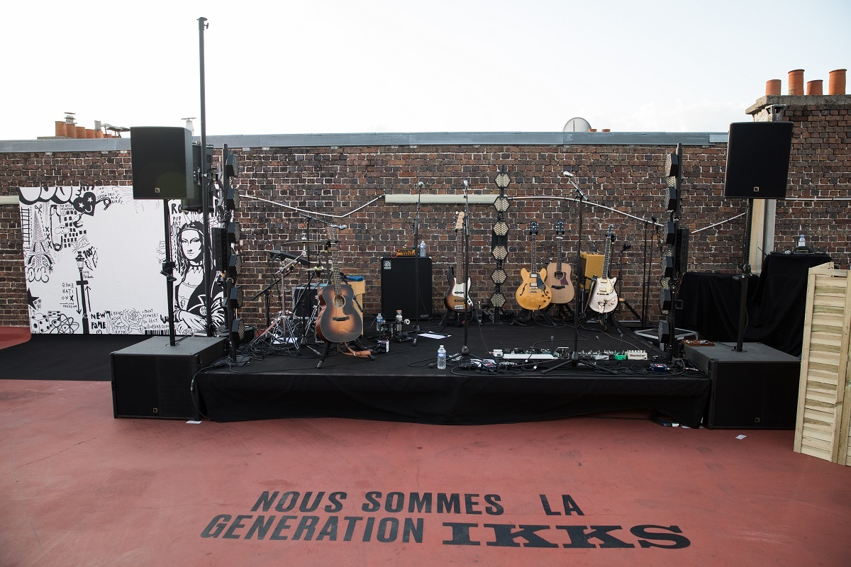 El escenario del concierto.
