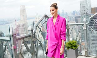 Olivia Palermo durante la semana de la moda de Nueva York.