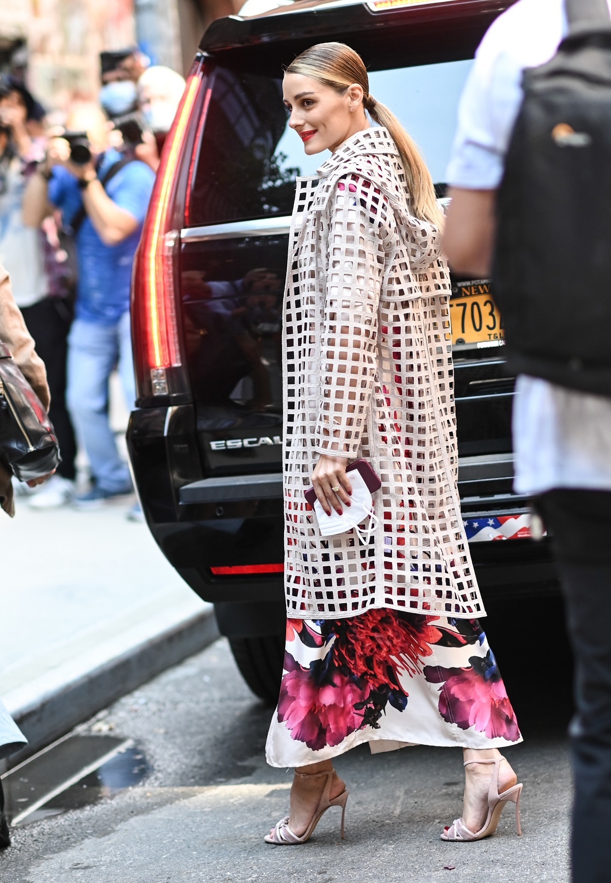 Olivia Palermo con vestido en print floral.