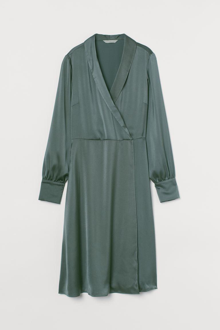Vestido de satén verde