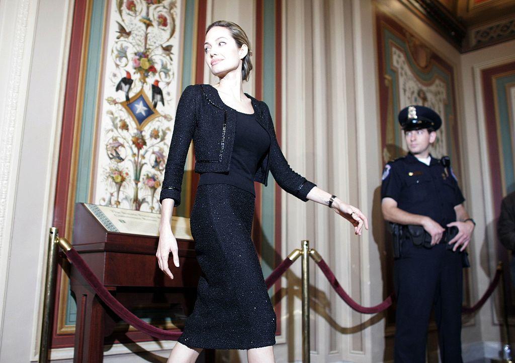 Angelina Jolie, en una de sus luchas en el Capitolio, en 2005.