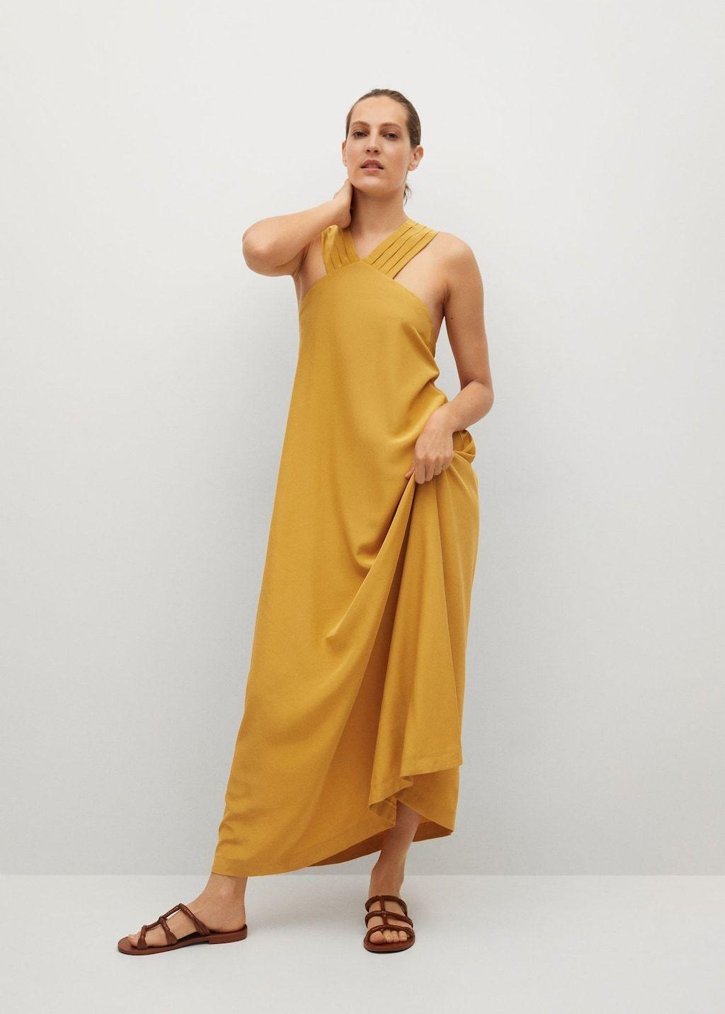 Vestido mostaza de Mango