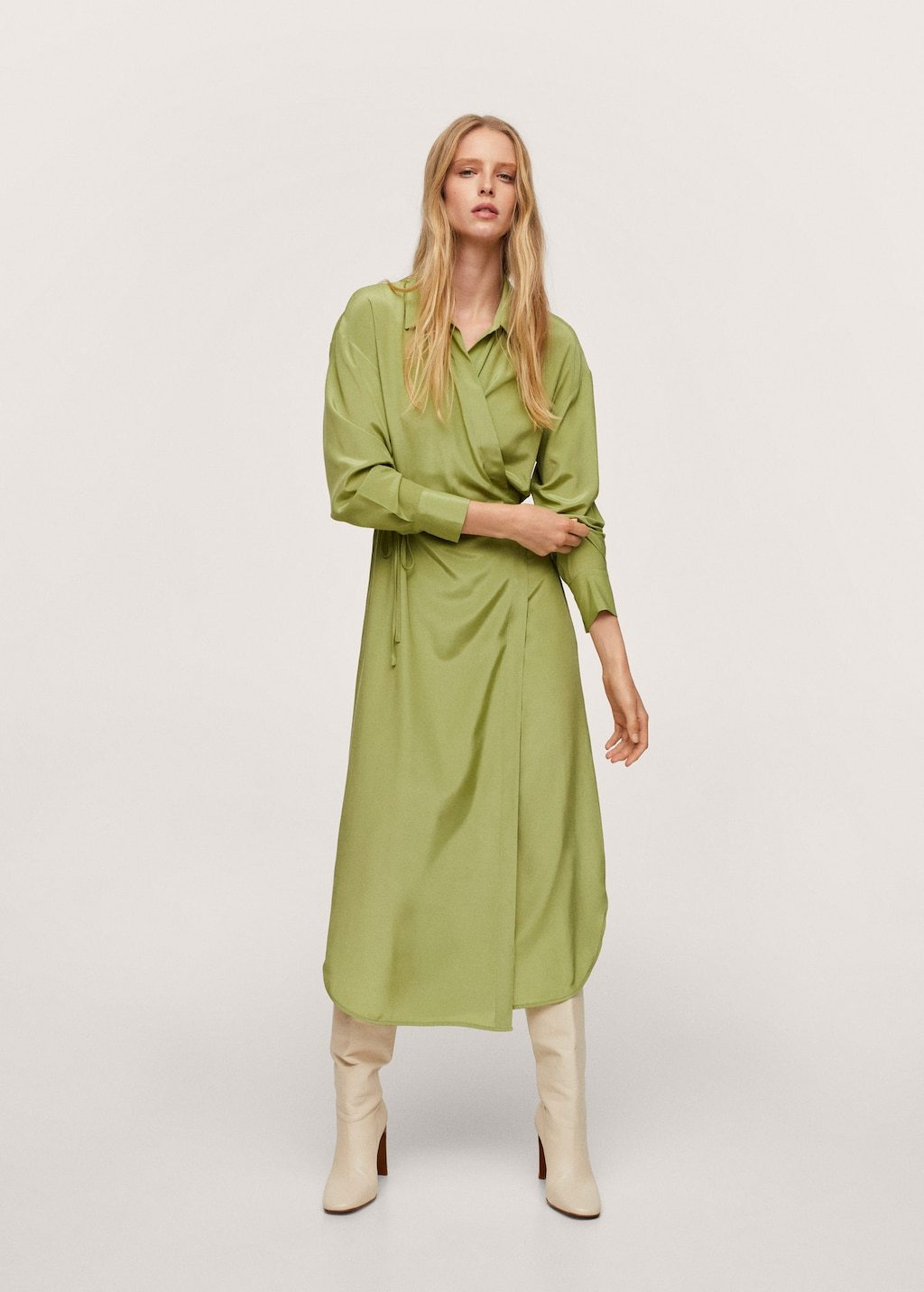 Vestido cruzado de Mango