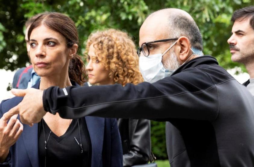 Maribel Verdú durante el rodaje de Ana Tramel. El juego