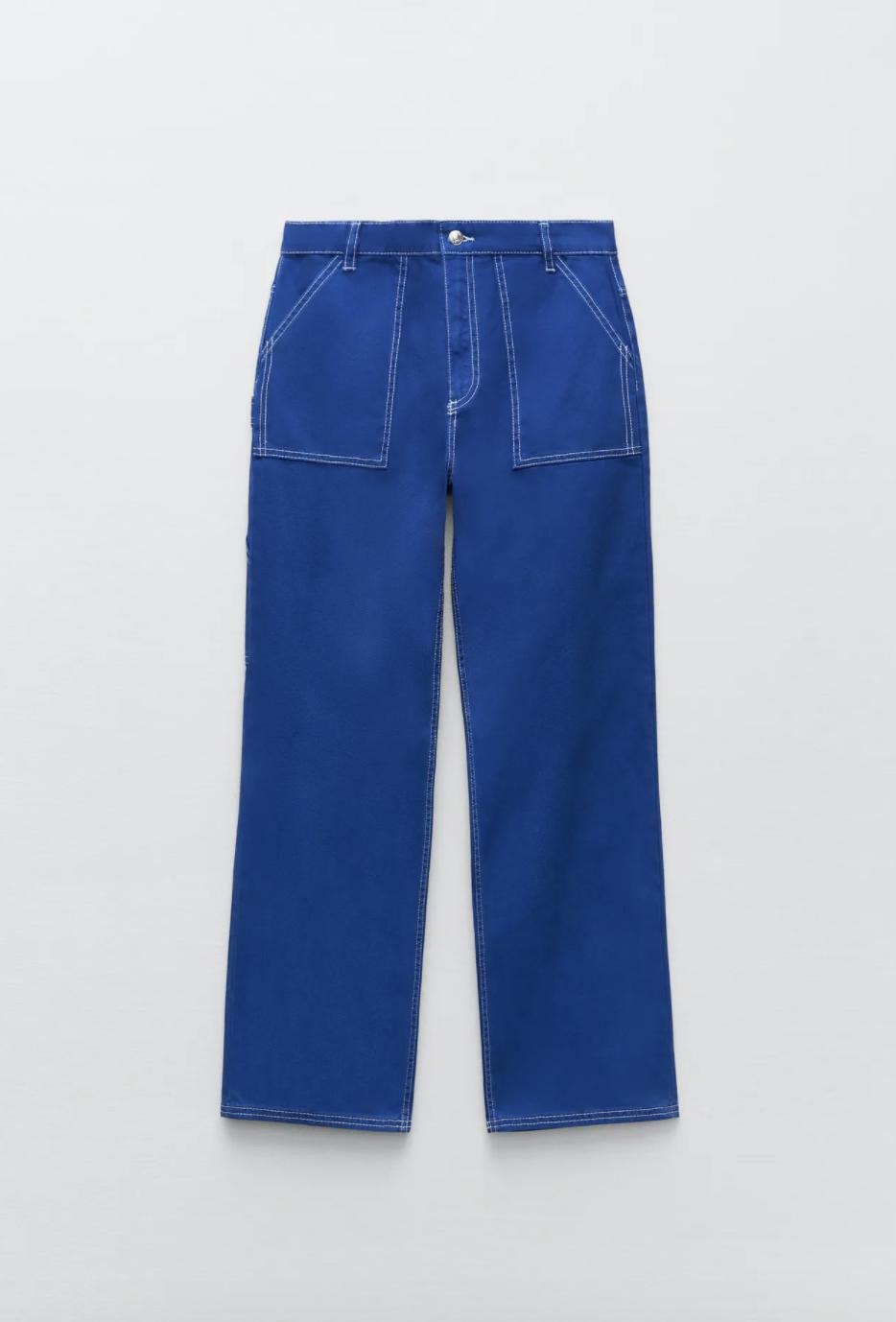 Pantalón cargo azulón de Zara