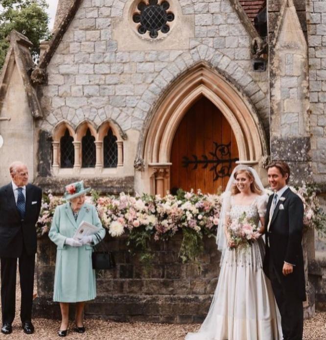 Beatriz de York el día de su boda