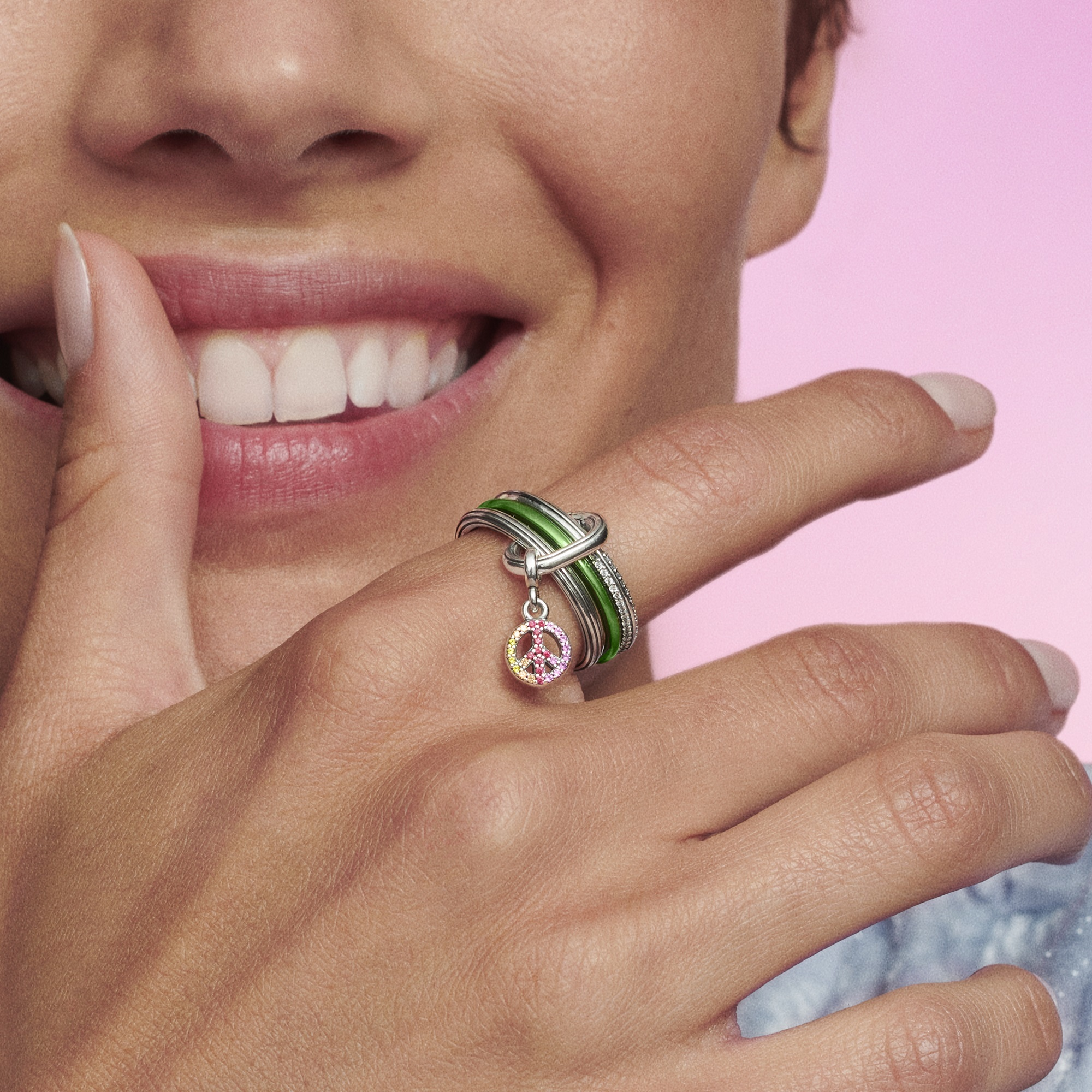 Stackable rings, from Pandora ME.
