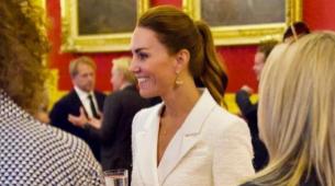 La duquesa de Cambridge durante el acto en la National Gallery...