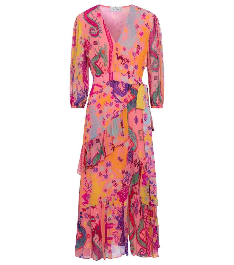 Vestido de seda, de Etro.
