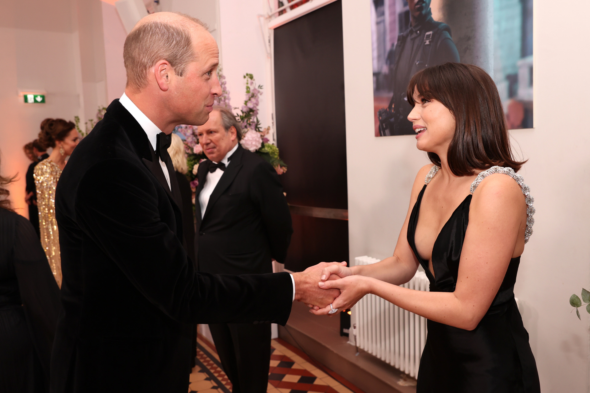 El Duque de Cambridge con Ana de Armas