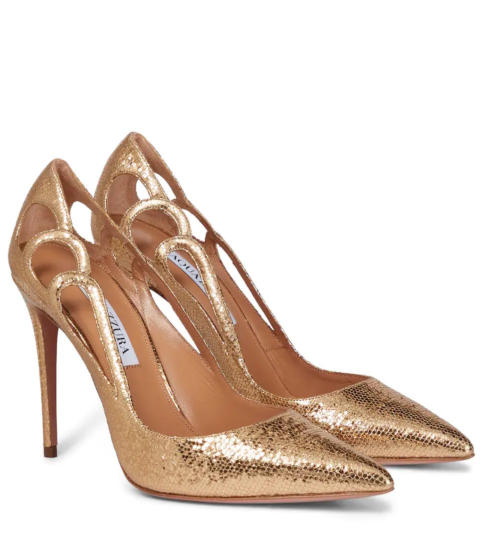 Los nuevos Aquazzura Fenix en napa dorada que lucía ayer Kate Middleton.
